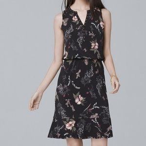 White House Black Market Floral Blouson Dress XS